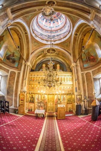 Biserica Sfinții Trei Ierarhi Colțea văzută prin Sigma 15mm f/2.8
