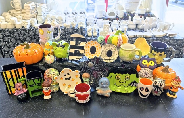 We have hundreds of seasonal decorations that are festive and functional, come have fun making yours today!