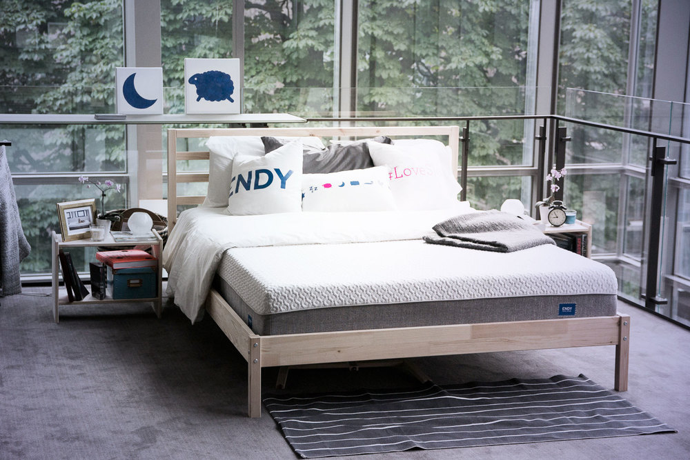 The Endy mattress seen at Moses Znaimer's IdeaCity conference in Toronto, 2015.