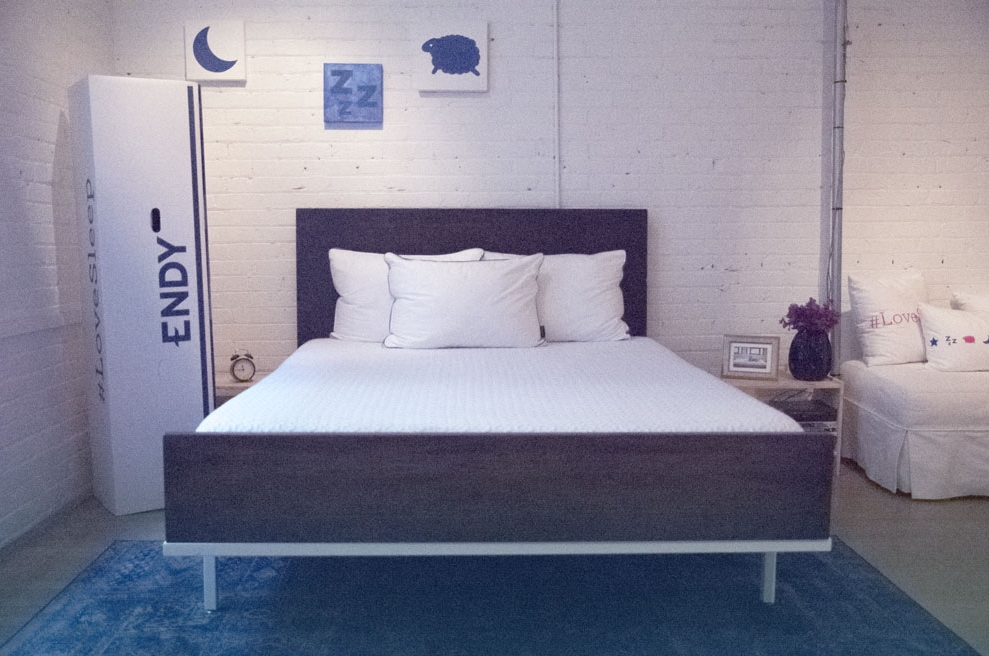 A look at the Endy Mattress, situated in the Endy showroom in Downtown Toronto.