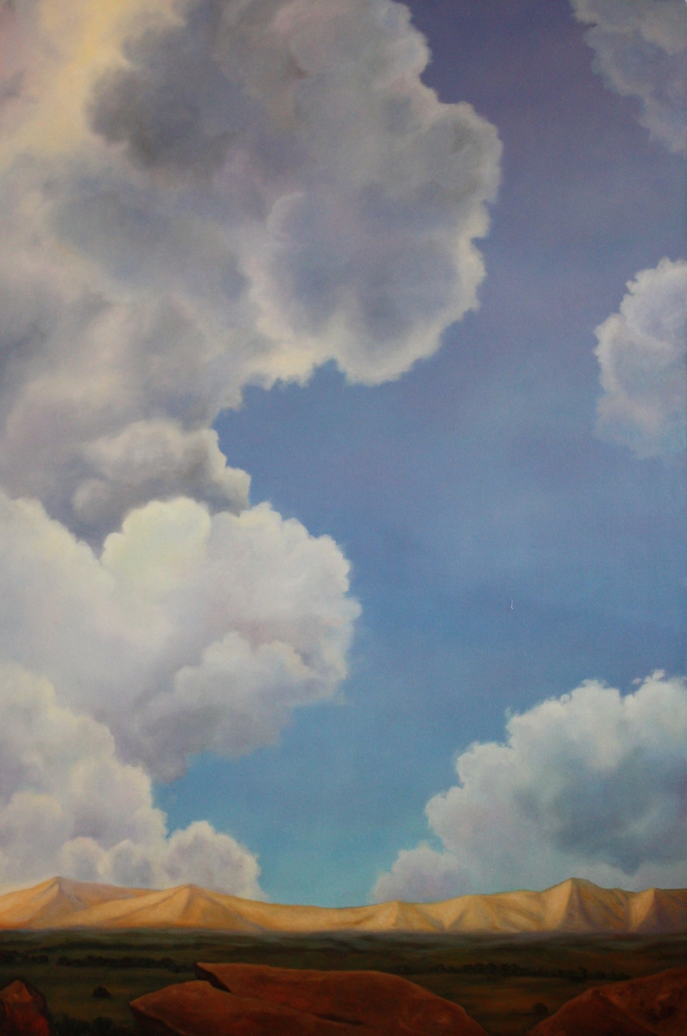 "Cloud Painting Oil on canvas  72""x 44"""