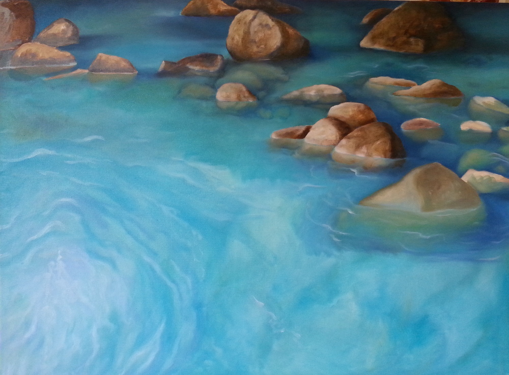 "Rio Celeste Oil on canvas 46"" x 52"""