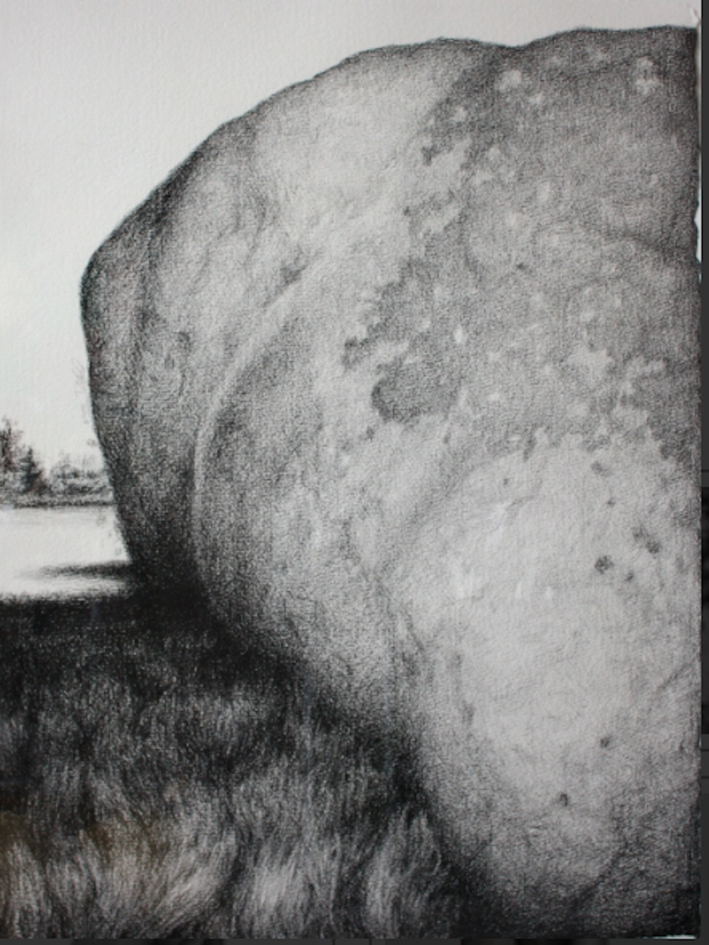 "The Boulder Graphite & Conte on Paper, 26""x20"""