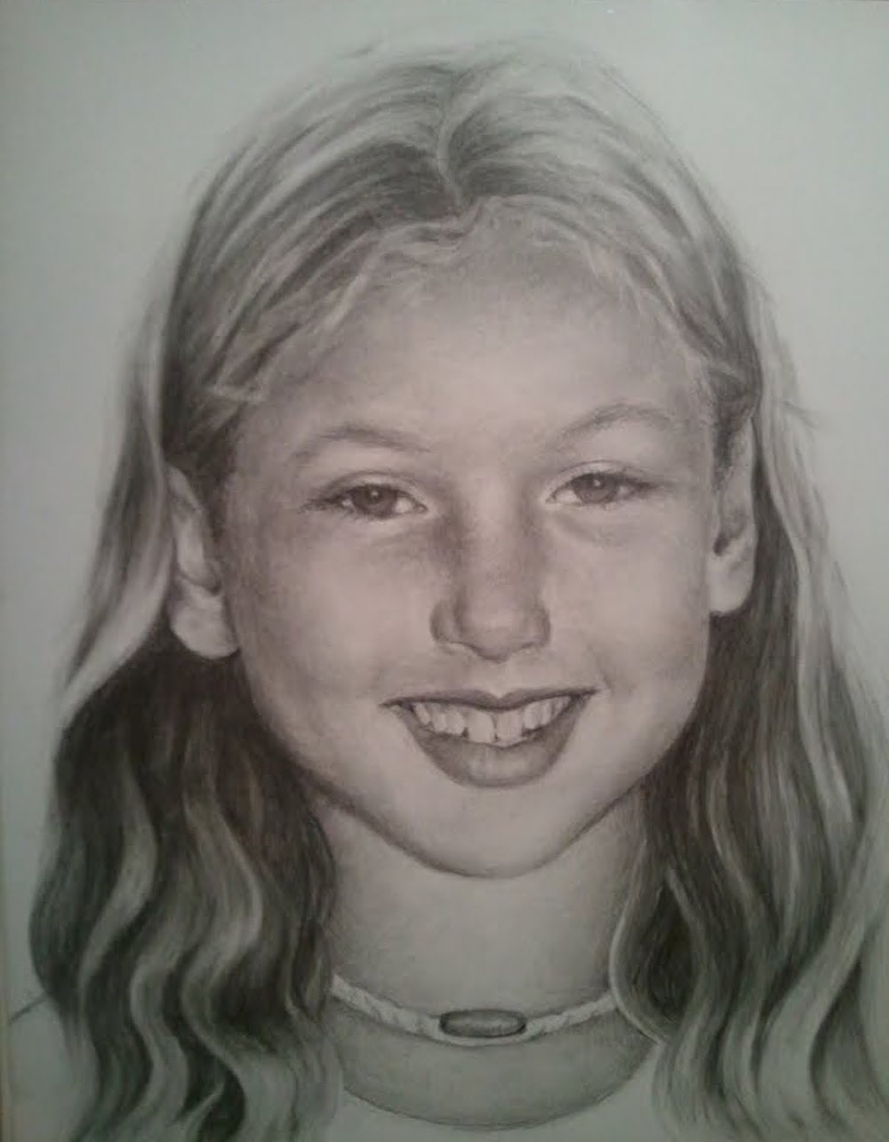 "Ansley Graphite on paper  11"" x 8.5"""