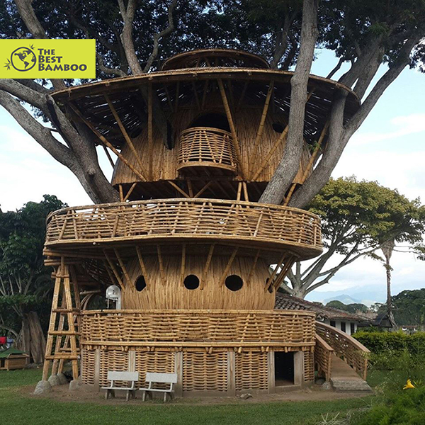 Bamboo Tree House by architect Jaime Peña, Valle del Cauca Colombia