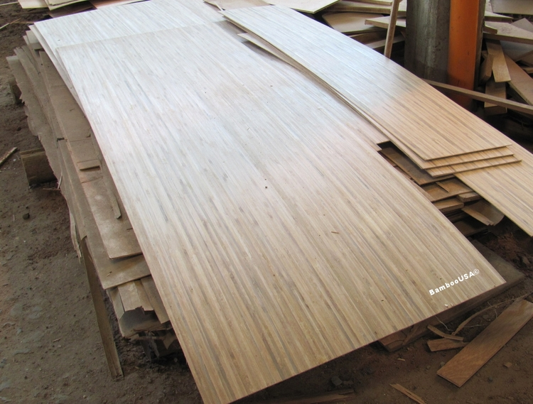 Natural Guadua Veneer, 0.6 mm thick with paper backing