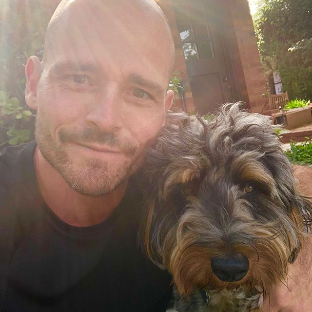 Hanging with my Saturday morning workout mascot @filberts_follies  who is doing an amazing job of. being  cute today • • • • • #personaltrainer #hollywood #weightloss #losangeles #fitness #bodybuilding #functionaltraining #naturalbodybuilding #body #fit #fitfam #fitness #gay #instagay #instagood #evolution #expansion #NewThought #loa #nasm #nasmcertified #balance #mindbody #instafit #nopainnogain #gym #gymlife #gymtime #dog #dogsofinstagram