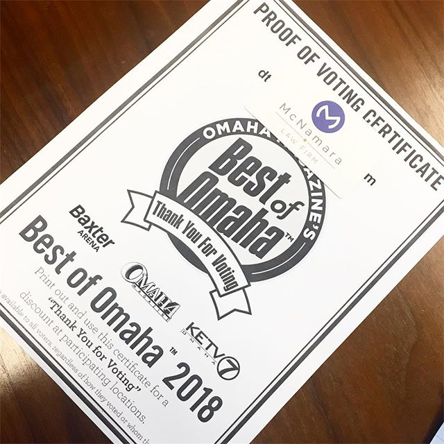 Omaha, have you voted yet?📮 . . . . . . . . . . . #legalblog #blog #lawfirm #nebraska #smallbusiness #bestofomaha #supportsmallbusiness #omahalawgroup #mcnamaralawfirm #omaha