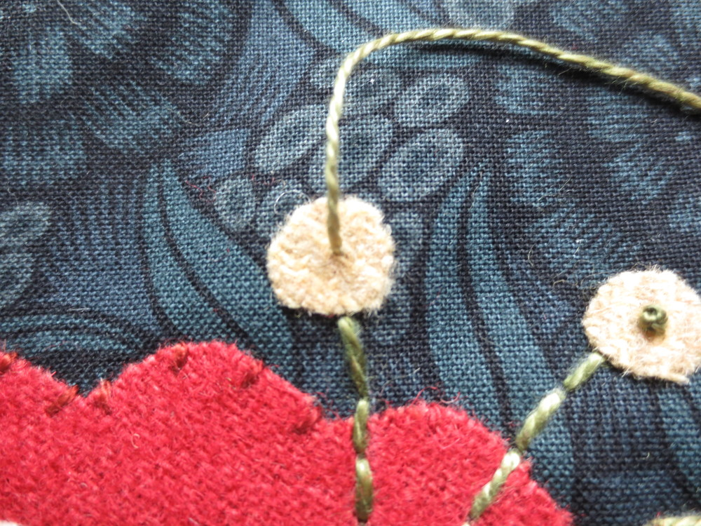 anther with french knot