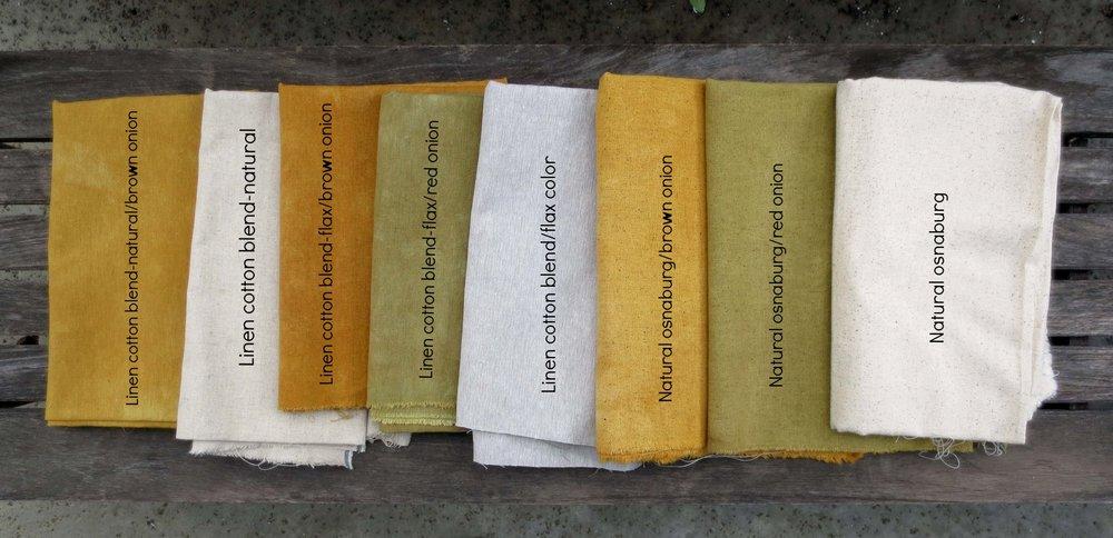Onion skin dyed fabrics