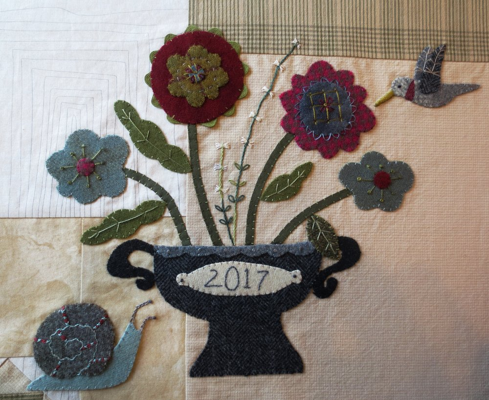 Block #3 of  Flowers From My Garden Mystery Quilt Along .