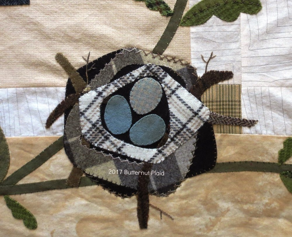 Flowers From Garden Border Applique - Robin's nest