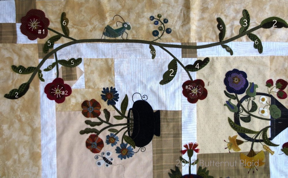 Flowers From My Garden Mystery Quilt - Final border applique