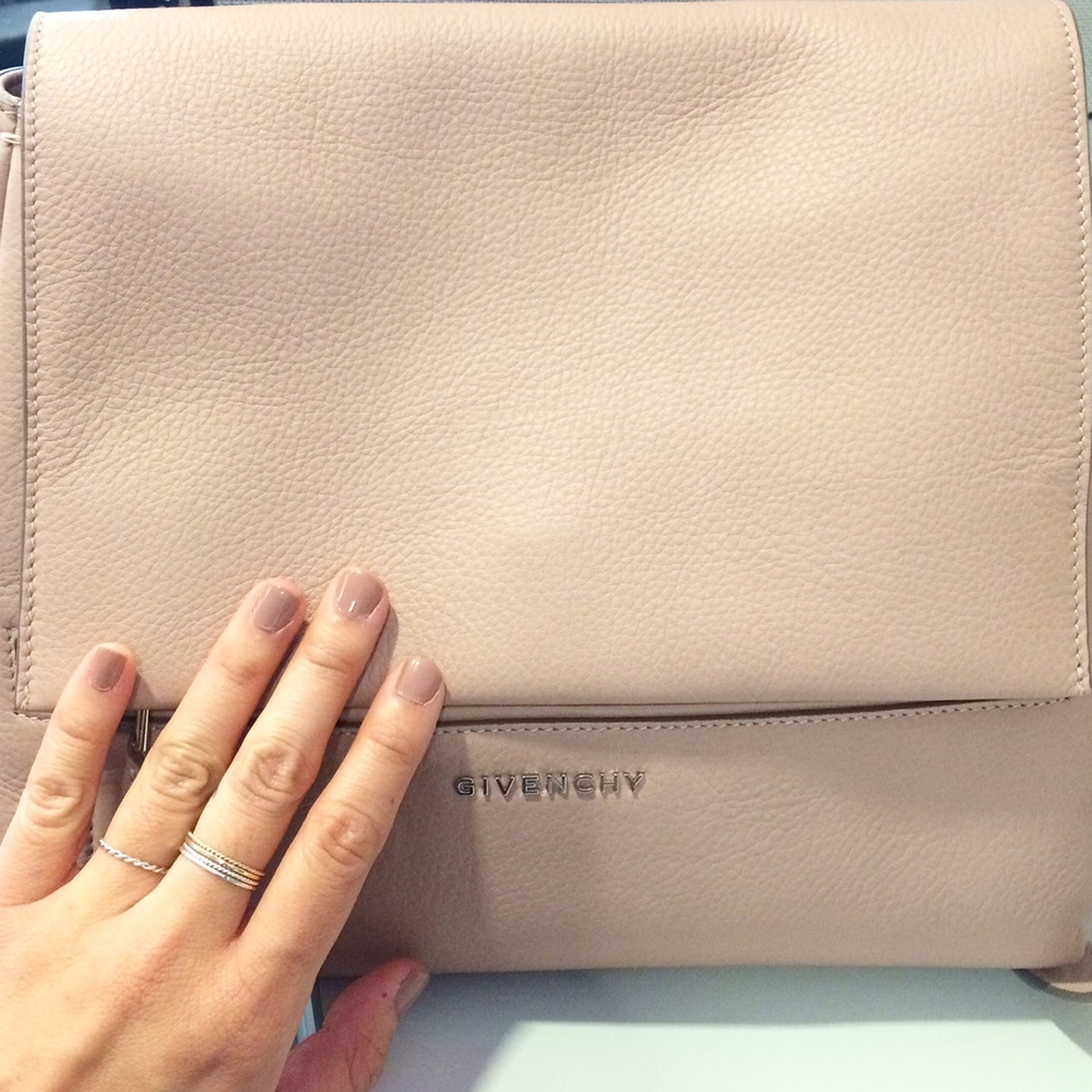 Givenchy Pandora Pure Small Flap Shoulder Bag with Sephora Formula X Nail Polish in Evocative