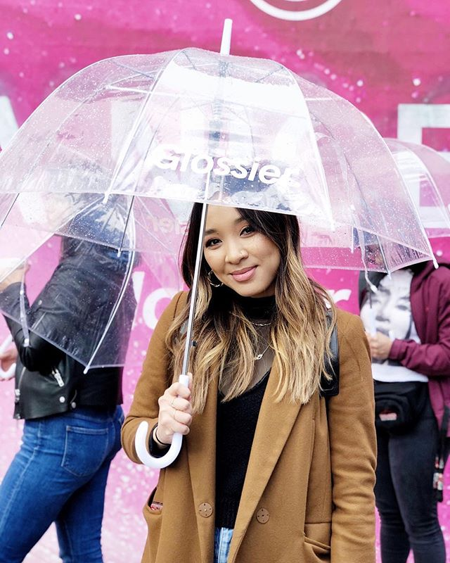 @glossier even making rain cute 💕☔️