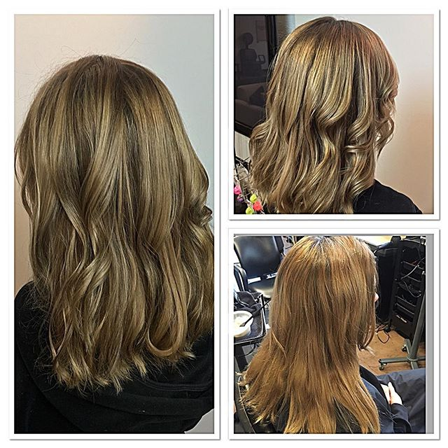 Before and after bronding by Michael #pdx #77salon #pearldistrict #btcpics #modernsalon #magma #wellalife #pdxstylist #bronding #independenthair #balayage #haircolor #hair #blonde #freelights #colorid