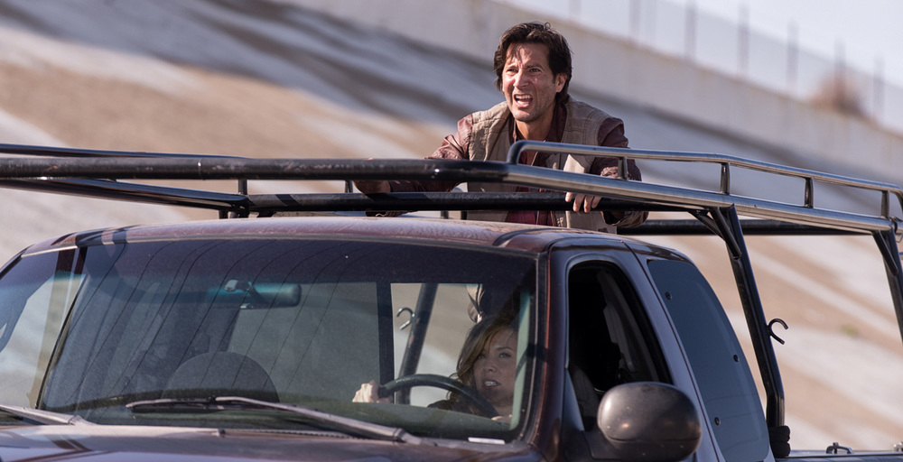 Henry Ian Cusick and Kristen Dalton in 10.0 The Big One