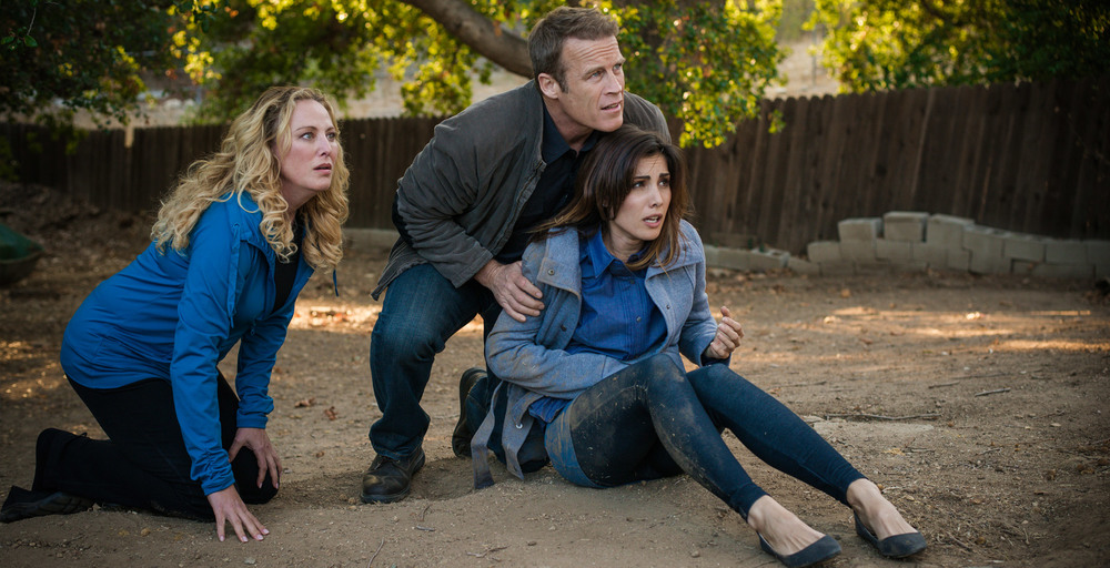Virginia Madsen, Mark Valley and Carly Pope in The Lost Boy