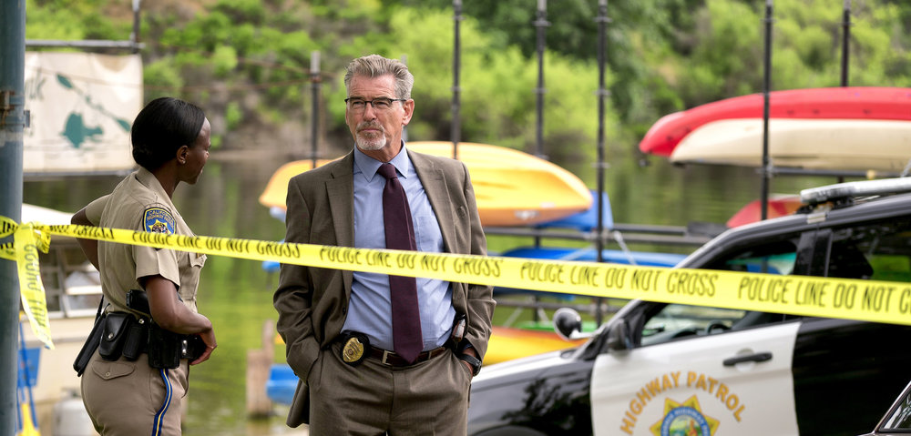 Pierce Brosnan plays Detective Malloy in the thriller, Spinning Man.