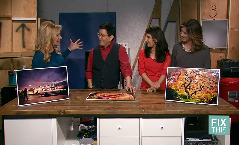 "Scott Takeda joins ""Fix This"" hosts Vida Urbonas, Raquel Villanueva and Becky Ditchfield for a demonstration about art photography. (June 2016)"