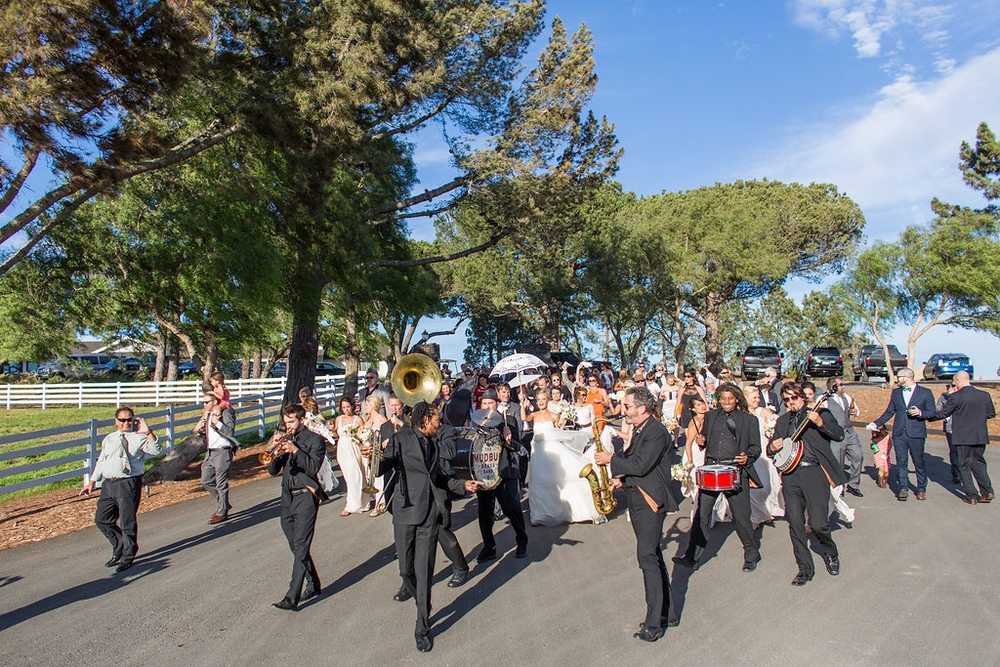 Emily + Matthew Wedding in San Luis Obispo, CA: The Mudbug Brass Band!