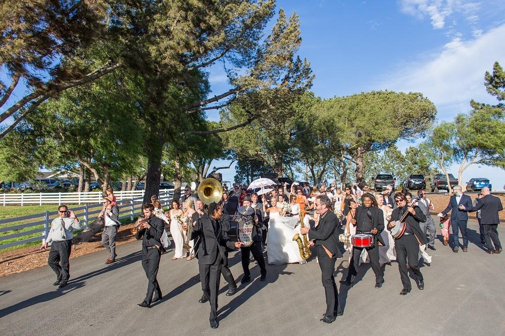Emily and Matthew's Wedding 4: The Mudbug Brass Band!