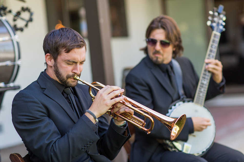 Emily + Matthew Wedding in San Luis Obispo, CA: The Mudbug Brass Band