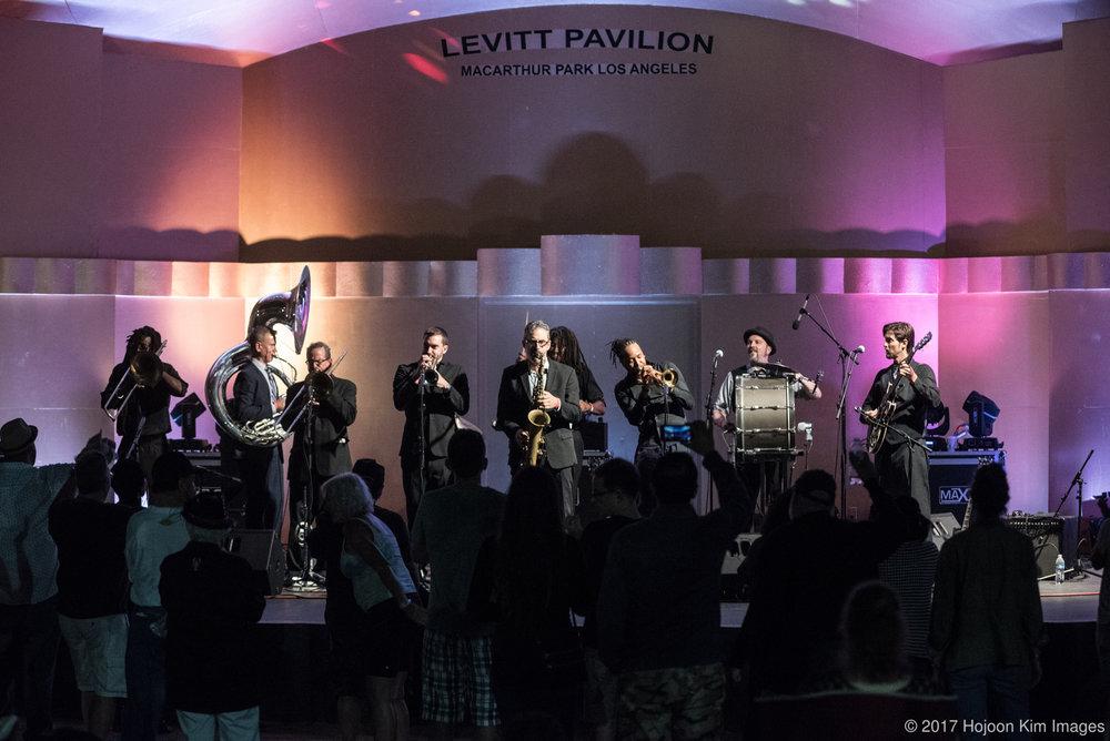 Mudbug Brass at Free Summer Concerts Levitt Pavilion 2017.