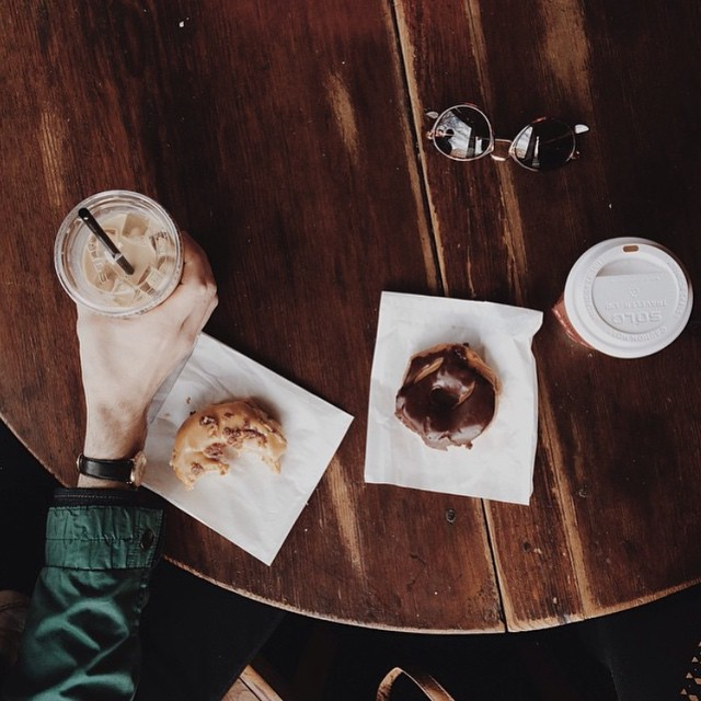 We're loving this shot from @lindseypemberton of some delicious treats and coffee in Thomasville!
