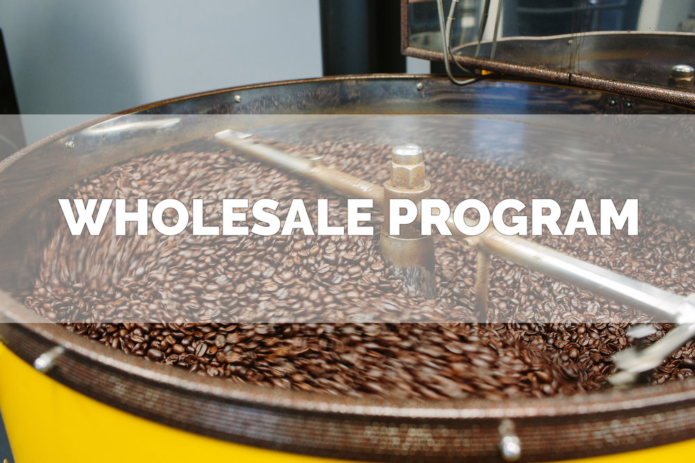 Grassroots Coffee Roasters wholesale program for retail bags.