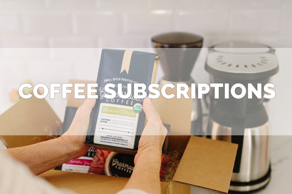 Coffee subscriptions for small batch coffee.