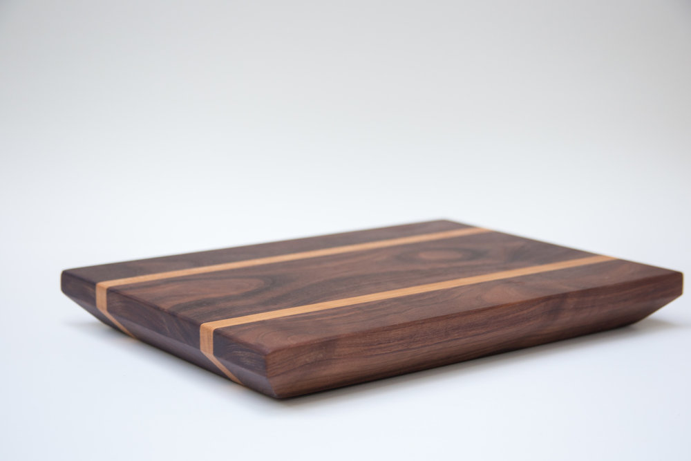 Thick Walnut and Cherry Cutting Board