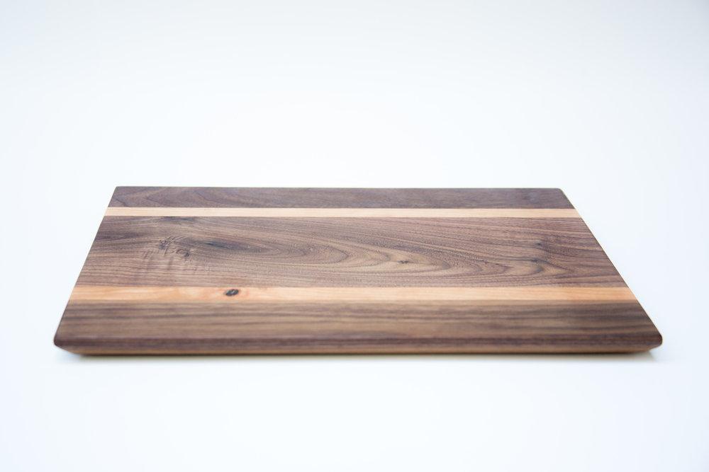 Thin Walnut and Cherry Cutting Board