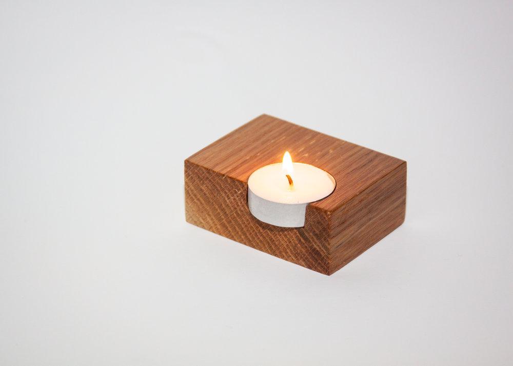 Reclaimed Oak Tea Candle Holder