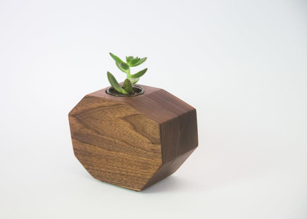 Walnut Octagon Planter