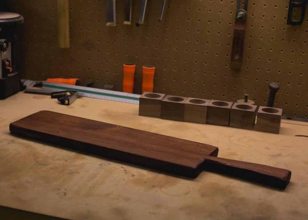 Carved Mahogany Tray