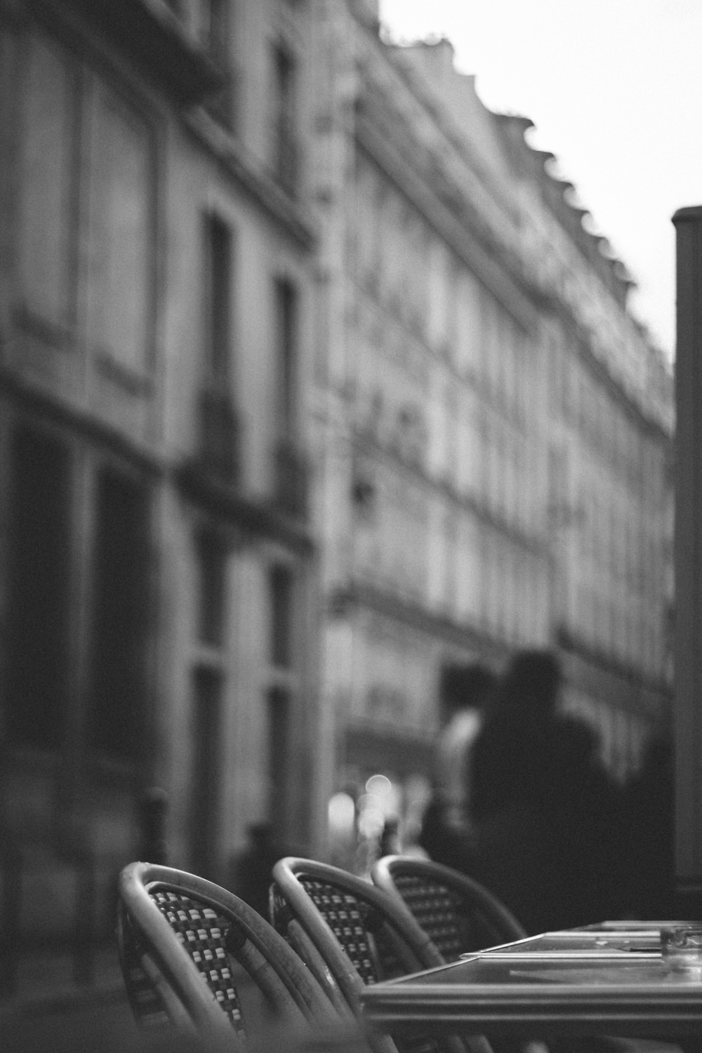 Paris France in black and white