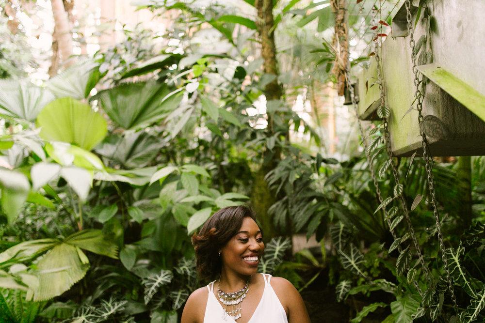 Atlanta botanical gardens photoshoot