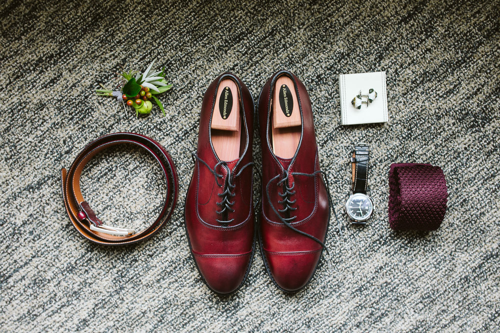The groom's details at this Battello Wedding in Jersey City, NJ