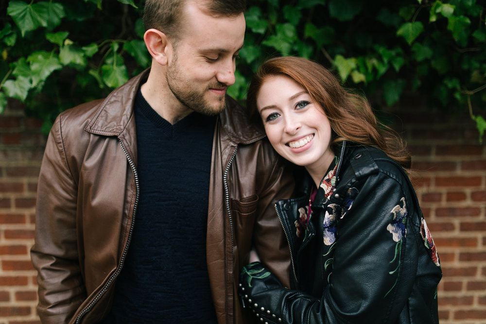 Leather jackets at this DC Area Engagement Shoot - Alexandria, VA