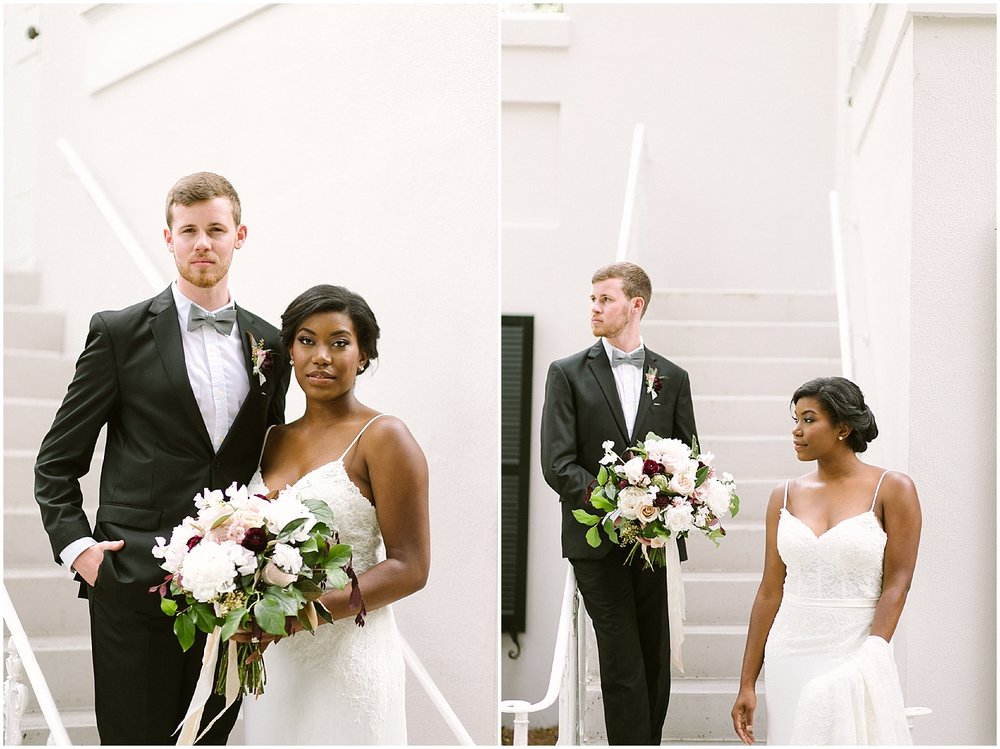 swan coach house black bride white groom