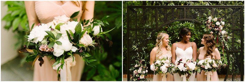 bridesmaids at swan coach house photo