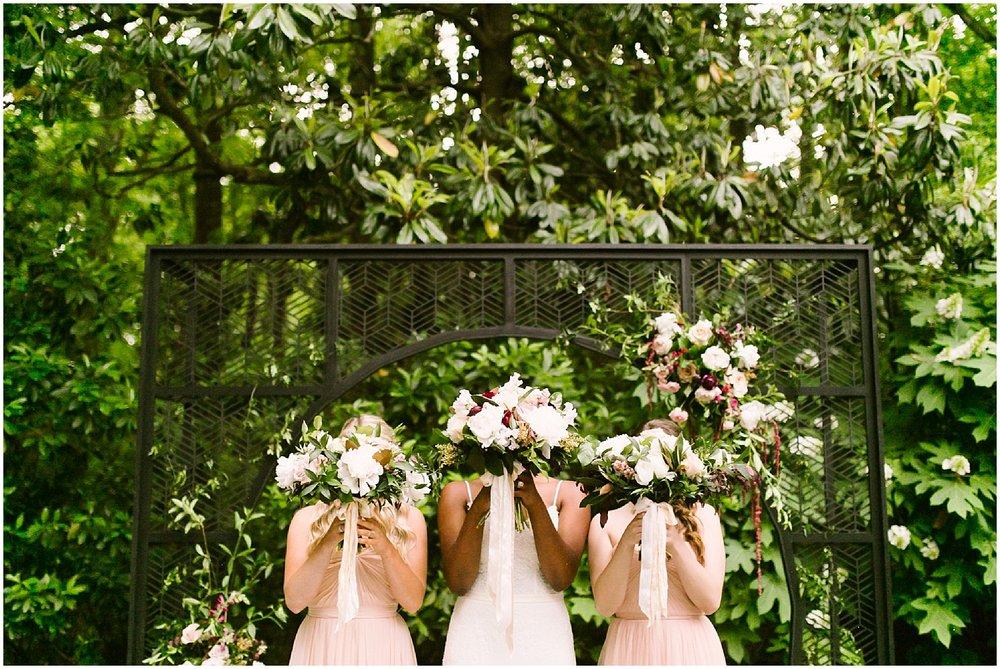 bridesmaids at swan coach house