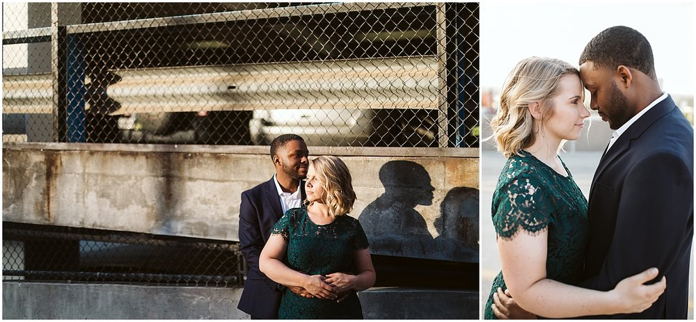 sunset engagement shoot in downtown atlanta