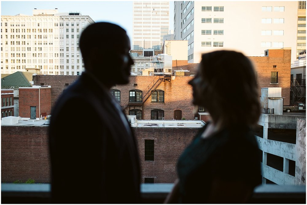 downtown atlanta parking deck engagement session