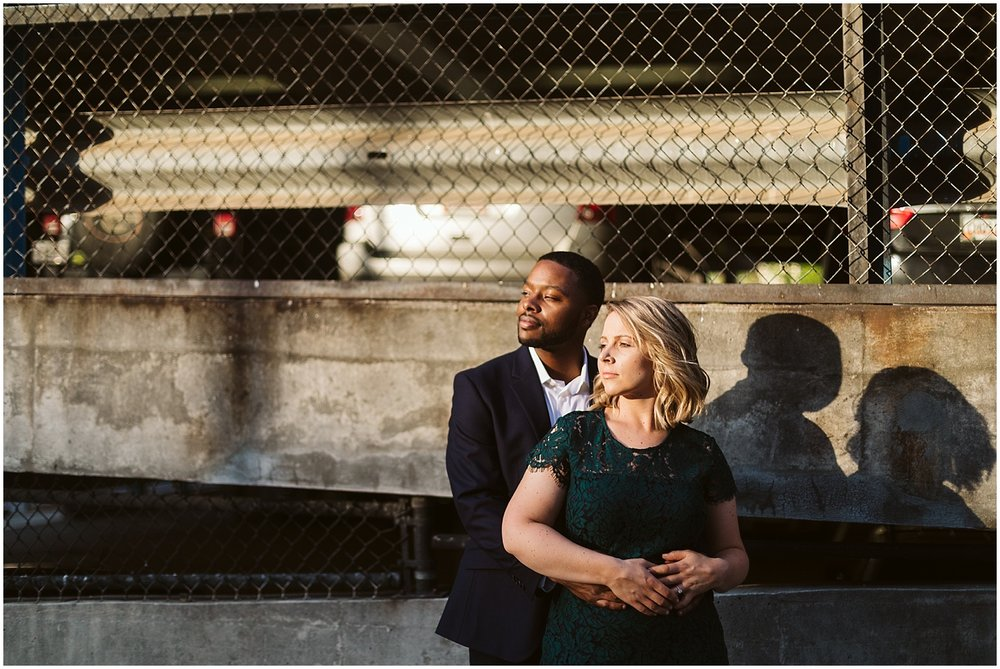 classy engagement shoot in downtown atlanta