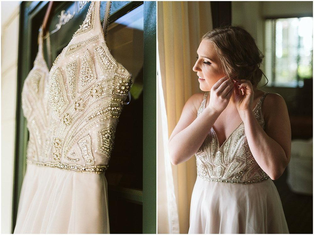 beaded hayley paige wedding gown