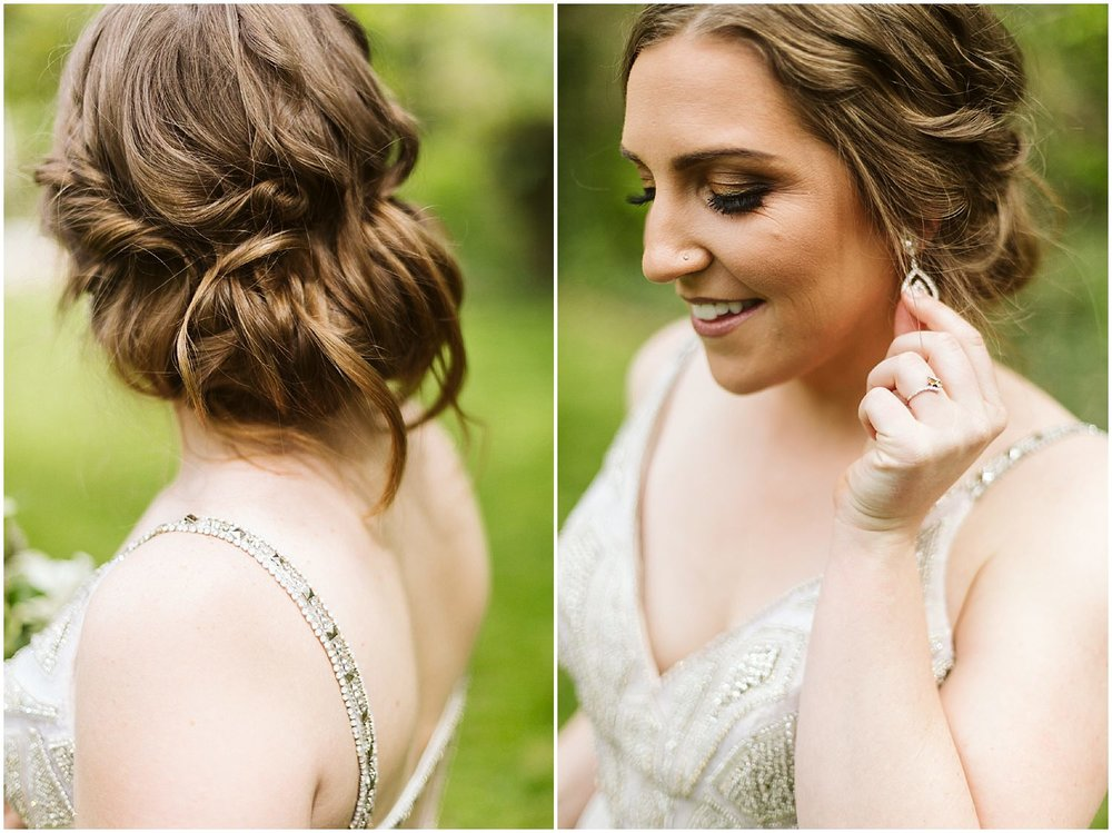 loose bridal updo