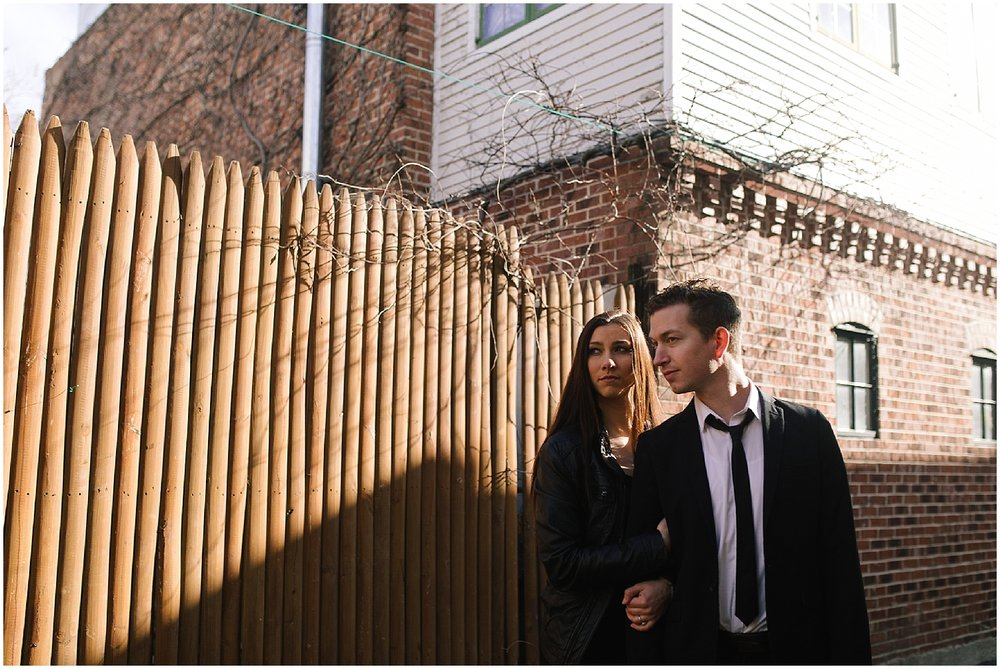 engagement shoot on h street in washington dc