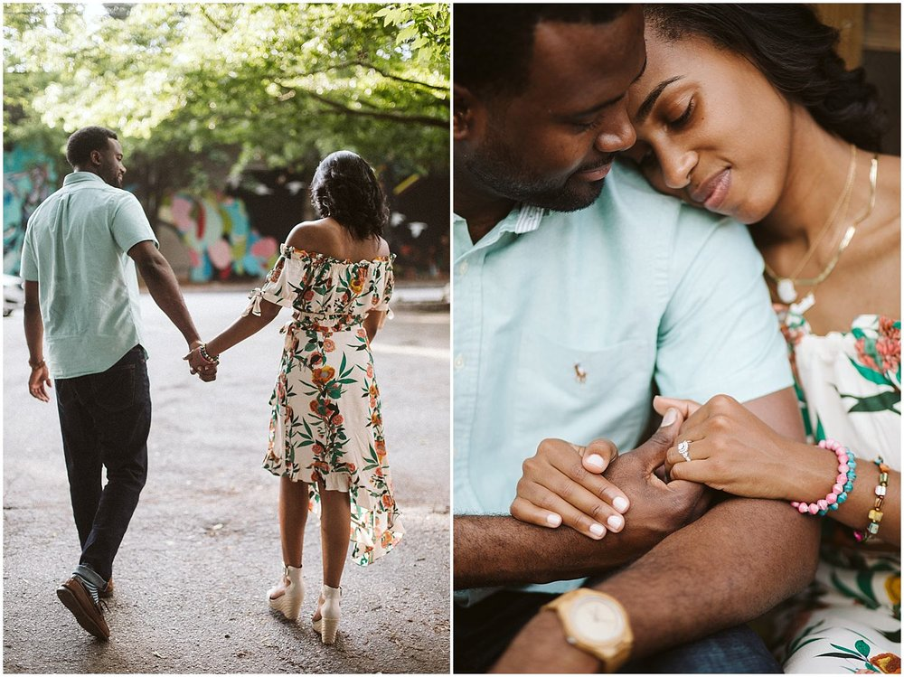hand in hand atlanta engagement photos